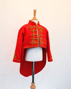 Kids Circus Ringmaster Costume including red by AtelierSpatz