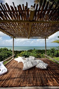 This beautiful beach home in Trancoso, Brazil, is where Maria Perrin spends her summer together with her husband and their three children. It is the perfect holiday home for this family who loves natu