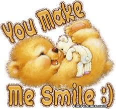 You Make Me Smile Images, Graphics, Comments and Pictures - Orkut, Friendster, & Smile Pictures, Smile Images, Pictures Images, Gif Animé, Animated Gif, You Make Me, Make You Smile, Teddy Bear Pictures, Bear Pics
