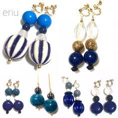 BLUE なイヤリング達。