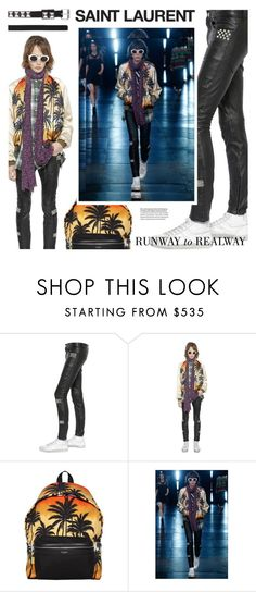 """""""Saint Laurent Spring/Summer 2016 Runway"""" by luisaviaroma ❤ liked on Polyvore featuring Yves Saint Laurent"""