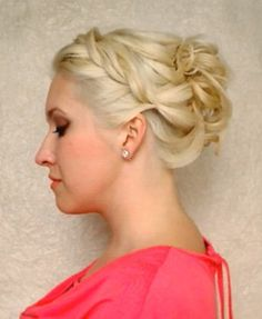 Easy party updo for medium to long hair  http://youtu.be/aJ7L922Ueao