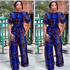 Rock the Latest Ankara Jumpsuit Styles these ankara jumpsuit styles and designs are the classiest in the fashion world today. try these Latest Ankara Jumpsuit Styles 2018 African Dresses For Women, African Fashion Dresses, African Attire, African Wear, African Women, Fashion Outfits, Nigerian Fashion, African Inspired Fashion, African Print Fashion