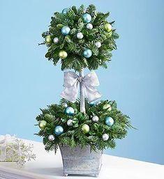 10 pomysłów na świąteczne topiary. Zobacz jak cudnie wyglądają!