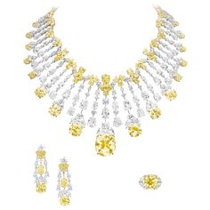 Boghossian Important Fancy yellow diamond necklace