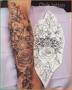 The Most Beautiful Flower Tattoo Designs - flower tattoos - The Most Beautiful Flower Tattoo Designs – flower tattoos 100 Die schönsten - Tattoos For Women Flowers, Beautiful Flower Tattoos, Foot Tattoos For Women, Small Flower Tattoos, Sleeve Tattoos For Women, Tattoo Sleeve Designs, Flower Tattoo Designs, Tattoo Designs For Women, Small Tattoos