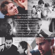 """""""I don't want to die""""~Tris ,This part in Insurgent almost made me cry Divergent Memes, Divergent Hunger Games, Divergent Fandom, Insurgent Quotes, Divergent Trilogy, Divergent Insurgent Allegiant, Tfios, Divergent Theo James, Tris And Tobias"""