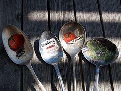 garden spoons!  Christmas crafts @The Magic Onion craft-ideas