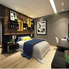 Apaixonada por esse quarto da arquiteta @carolcantelli_interiores | @decoreinteriores
