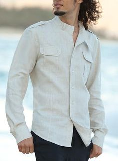 5 Tips When Buying Hot Weather Shirts For Men Mens Casual Dress Outfits, Casual Shirts, Formal Dresses For Men, Safari Shirt, Mens Designer Shirts, Long Sleeve And Shorts, Indian Men Fashion, Summer Shirts, Cool Shirts