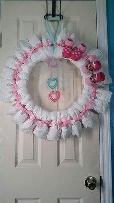 Diaper Wreaths for a baby girl