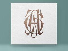 Monogram AG GA Vintage Monogram Wedding Monogram Graphic Design Letters, Vintage Graphic Design, Monogram Design, Monogram Logo, Lettering Design, Graphisches Design, Logo Design, Tiffany Art, Geometric Logo