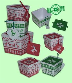 The Papercraft Post: Ski Sweater Gift Boxes