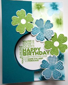 Circle Thin-lit, Island Indigo, Flower Shop & Pansy Punch, Delightful Dozen, Watercolor Wonder DSP