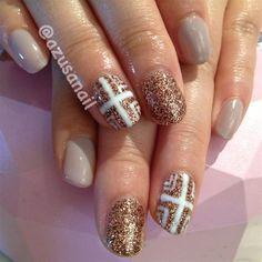 autumn look nails by azusa - Nail Art Gallery nailartgallery.nailsmag.com by Nails Magazine www.nailsmag.com #nailart