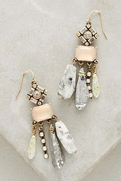 Stone Strand Drops in Gold from Anthropologie