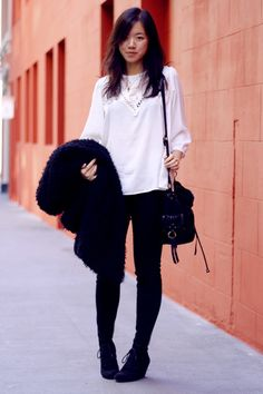 Nice textures in this black and white look.