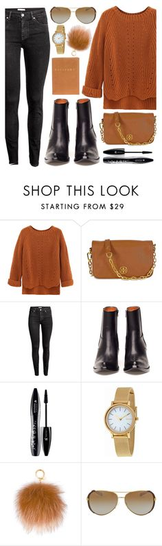 """9:23"" by monmondefou ❤ liked on Polyvore featuring Tory Burch, H&M, Vetements, Lancôme, Skagen, MICHAEL Michael Kors, black and brown"