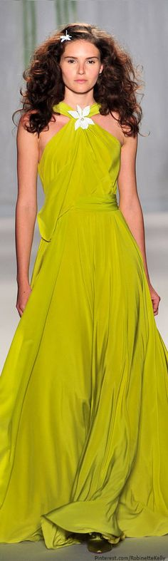 Jenny Packham | S/S 2014--very pretty ...although I can't wear this color..I'd love it in red, or a teal...