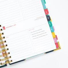 2016 DAILY Simplified Planner - Happy Stripe | Emily Ley I like the Sunday checklist here.