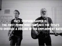 JIm Cuddy and Greg Keelor of Blue Rodeo in a screen grab from their new anti-Harper song, Stealin' All My Dreams.