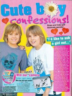 DYLAN & COLE SPROUSE - THE SUITE LIFE - PINUP CLIPPING  | eBay