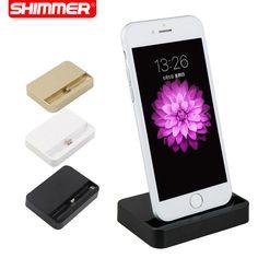 SHIMMER Draagbare Desktop Data Sync USB Cradle Dock Charger Opladen station voor iphone se 5 5 s 5c 6 plus 6 s 6 splus