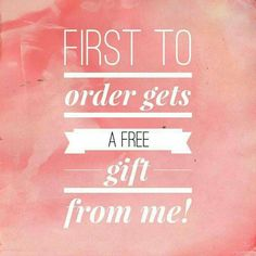 First order free gift