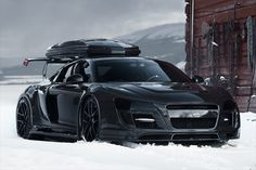Audi R8 Winterized - This is sick!  I don't care if that's a travel box on it, it looks awesome!
