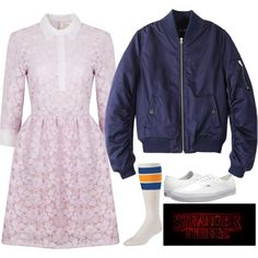Eleven - Stranger Things by samantha-hannum on Polyvore featuring Ukulele, Chicnova Fashion and Vans