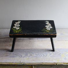 vintage hand-painted stool
