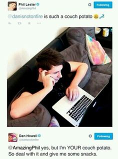 What does this mean??? YOUR COUCH POTATO SO DAN IS PHIL\'S OFFICIAL PROPERTY???
