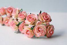 Paper Flower 50 pieces mini rose Size 2.5 cm. pink by Kamipapa