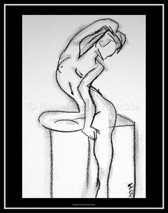 """Charcoal Nude Drawing Nude Art Print Figure by HazelEyedFreckle  This 8"""" x 10"""" minimalist nude original charcoal drawing print is 100% original artwork created by me. You will receive a print that is ready to frame.  To view more artwork - https://www.etsy.com/shop/HazelEyedFreckle"""