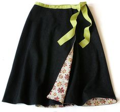 pattern and instructions for reversible wrap skirt w/ pockets -- nice for travel! 2-4 hours to make.