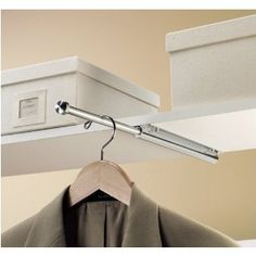 Hidden Clothes Rod For Laundry Room I Definitely Need This Because Somebody Not Me Always Leaves His Clothes In The Laundry Room Despite Having A