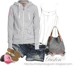 hoodie and shorts - Polyvore