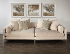The Ventura sectional sofa for clean-lined, deep-seated comfort