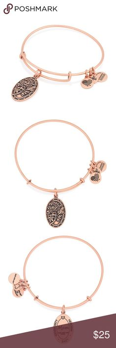 """Alex and Ani Rafaelian Rose Gold Mom Charm Bangle A mother's love and support is extraordinarily strong without limitation. The peony, the queen of the garden, symbolically encompasses the maternal traits of healing, love's blessing, and bravery. Embrace the heartfelt connection, strength, and respect associated with the Mom Charm as a token of admiration.   • Expandable from 2"""" to 3.5"""" • Charm Dimension: 0.65"""" x 1"""" • Crafted in our RAFAELIAN ROSE GOLD Finish Alex and Ani Jewelry Bracelets"""