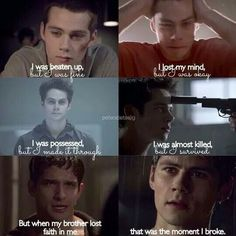 Idek wat happened but stiles,,,, poor