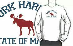 York Harbor Wear. #wellsbeach  #maine  Available in redbubble and cafepress.
