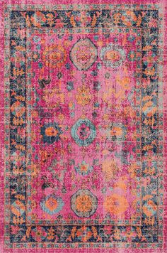 A lovely Rugs USA Seasoned SW04 Deluxe Electric Floral Garden Rug! We're obsessed!