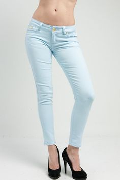 Sky Blue Skinny Jeans
