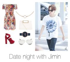 """Date night with Jimin"" by bts-outfit-imagines on Polyvore featuring New Look, Nixon and Victoria Beckham"