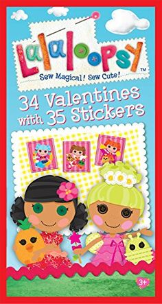 Paper Magic 34CT Deluxe - Stickers Lalaloopsy Kids Classr... Valentine Gifts For Kids, Valentines, Paper Magic, Lalaloopsy, Deck Of Cards, Stickers, Sewing, Day, Cute
