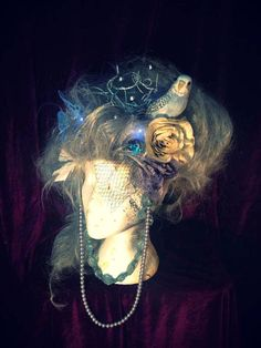 A Midsummers Night's Dream - Silver Forest Spirit Nymph Wig With LED Butterflies