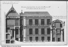 09. 1f. Hôtel Lambert, coupe longitudinale