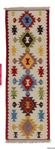Beige, Multicolor New Turkish Kilim Runner - carpetideas Wool Carpet, Rugs On Carpet, Red Carpets, Carpet Tiles, Tapetes Vintage, Arte Tribal, Kilim Runner, Carpet Runner, Turkish Kilim Rugs