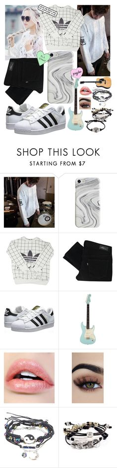 """Hanging with Calum Hood"" by motionlesstaetae ❤ liked on Polyvore featuring Recover, adidas, Levi's, adidas Originals and Robert Lee Morris"