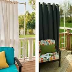 Throwing a party on your deck? Attach a Deck Curtain Rod and some beautiful outdoor curtains to your railing to create an intimate and cozy space.